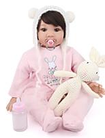 Недорогие -NPK DOLL Куклы реборн Куклы Девочки 22 дюймовый Очаровательный утонченный Kawaii Детские Универсальные Игрушки Подарок