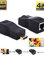 Недорогие -4 К HDMI расширения мини порты RJ45 до 30 м HDMI расширения по CAT 5E / 6 UTP LAN конвертер Ethernet кабель для HDTV