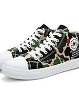 Недорогие -Муж. Комфортная обувь Полотно Лето Кеды Зеленый / Серый