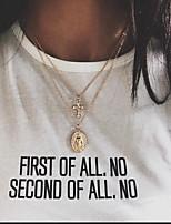 Недорогие -Жен. Ожерелья с подвесками Хром Золотой Серебряный 40 cm Ожерелье Бижутерия 1шт Назначение фестиваль