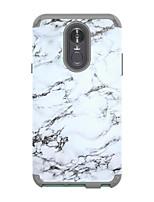 Недорогие -Кейс для Назначение LG LG Stylo 4 Защита от удара Кейс на заднюю панель Мрамор ТПУ / ПК