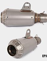 Недорогие -51 мм универсальный мотоцикл выхлопной трубы из нержавеющей стали выхлопные трубы из углеродного волокна выхлопной трубы модель sep106-2
