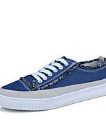 Недорогие -Муж. Комфортная обувь Полотно / Синтетика Весна лето На каждый день Кеды Дышащий Черный / Зеленый / Синий