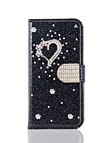 cheap -Case For Samsung Galaxy S20 Ultra /S20 Plus/S10 Plus Wallet / Card Holder / with Stand Glitter Shine Love PU Leather Case For Samsung S9 Plus /S8 Plus /S7 Edge/Note 10 Pro /A51/A71