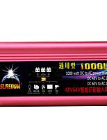 Недорогие -высокое качество автомобильный инвертор 48vand60v до 220v 1000w многофункциональный автомобильное зарядное устройство / инвертор / конвертер с USB-разъемом