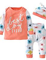 Недорогие -малыш Девочки На каждый день / Активный Пэчворк С принтом Длинный рукав Обычный Набор одежды Цвет радуги
