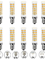 Недорогие -10 шт. 7 W LED лампы типа Корн Двухштырьковые LED лампы 700 lm E14 G9 G4 T 76 Светодиодные бусины SMD 2835 Новый дизайн Тёплый белый Белый 110-120 V