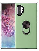 Недорогие -Кейс для Назначение SSamsung Galaxy Note 9 / Note 8 / Galaxy Note 10 Поворот на 360° / Кольца-держатели / Магнитный Кейс на заднюю панель Однотонный ТПУ / ПК / Металл