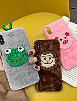 Недорогие -чехол для яблока iphone xs max / iphone 8 plus max пыленепроницаемый / рисунок с задней обложкой животное / мультфильм текстиль / хлопчатобумажная ткань / пк для iphone 7/7 plus / 8/6/6 plus / xr / x