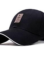 Недорогие -Муж. Классический Бейсболка Полиэстер,Однотонный Черный Светло-серый Белый