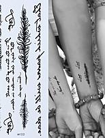 Недорогие -Временное английское слово татуировки наклейки черные буквы перо боди-арт татуировки наклейки водонепроницаемый для временных татуировок