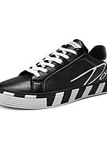 Недорогие -Муж. Комфортная обувь Полиуретан Весна лето На каждый день Кеды Черный / Черно-белый / Красный