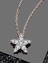 Недорогие -Подлинная 100% стерлингового серебра 925 пробы звездного серебра ослепительный кулон ожерелье подходит для дам ювелирные изделия из стерлингового серебра размер около 12,3 мм * 11,4 мм длина цепи