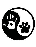 Недорогие -мода человеческая рука собака лапа автомобиль мода стикер