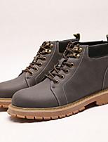 Недорогие -Муж. Армейские ботинки Полиуретан Наступила зима Ботинки Сапоги до середины икры Коричневый / Серый / Хаки