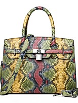 cheap -Women's Pattern / Print PU Top Handle Bag Leather Bags Snakeskin Wine / Black / Blue / Fall & Winter