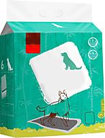 Недорогие -Собаки Коты Кровати Чистка 120 гр / м2 полиэфирная эластичная ткань Переработанная бумага Салфетки Водонепроницаемость Дышащий Учебный Зеленый
