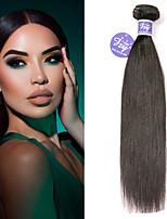 Недорогие -3 Связки Малазийские волосы Прямой человеческие волосы Remy 100% Remy Hair Weave Bundles Человека ткет Волосы Удлинитель Пучок волос 8-28 дюймовый Нейтральный Ткет человеческих волос / Без запаха