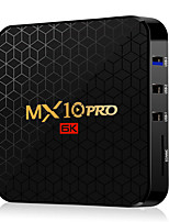 Недорогие -MX10 Pro Smart TV Box Android 9,0 4 ГБ оперативной памяти 64 ГБ ROM 2,4 г 5 г Wi-Fi Set Top Box Allwinner H6 четырехъядерный процессор H.265 6K HD Media Player