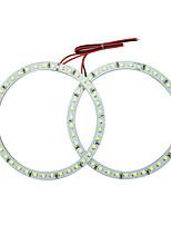 Недорогие -2шт 40мм автомобиль ангельские глазки 3528/1210см светодиодные фары гало кольцо ангельский глаз освещение белый