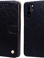 Недорогие -Чехол для Huawei P30 Pro Palace цветок PU кожа с слотом для карт откидной вверх и вниз для Huawei P30 Pro