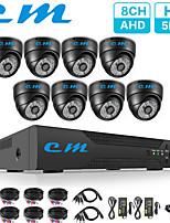 Недорогие -8-канальный комплект для наблюдения в помещении полушария металлическая раковина 5 миллионов камер видеонаблюдения видеорегистратор одна машина