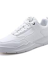 Недорогие -Муж. Комфортная обувь Полиуретан Осень На каждый день Кеды Нескользкий Черный / Коричневый / Белый