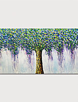 Недорогие -Hang-роспись маслом Ручная роспись - Абстракция Цветочные мотивы / ботанический Modern Включите внутренний каркас
