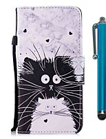 cheap -Case For Samsung Galaxy S10 / S10 Plus / S10 E Wallet / Card Holder / with Stand Black and White Cat PU Leather / TPU for A71 / A51 / A90 / A80 / A70 / A50 / A30S / Note 10 Plus / J6 Plus