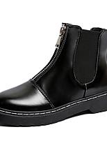 Недорогие -Жен. Ботинки Микропоры Круглый носок Полиуретан Наступила зима Черный