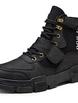 Недорогие -Муж. Армейские ботинки Полотно Весна / Осень Спортивные / На каждый день Ботинки Для прогулок Нескользкий Черный / Бежевый / Хаки