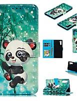 Недорогие -Кейс для Назначение SSamsung Galaxy Note 9 / Galaxy Note 10 / Galaxy Note 10 Plus Кошелек / Бумажник для карт / Защита от удара Чехол Панда Кожа PU