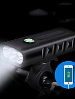 Недорогие -Светодиодная лампа Велосипедные фары Передняя фара для велосипеда Велоспорт Портативные Для профессионалов Прочный Литий-ионная 400 lm Работает от USB Батарея Белый / Поворот на 360°