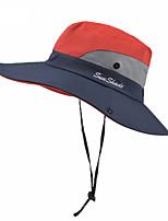 Недорогие -Жен. Классический Шляпа от солнца Хлопок Лён,Контрастных цветов Лето Лиловый Розовый Пурпурный