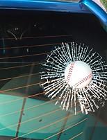 Недорогие -3d стикер окна стикера окна шарика для автомобиля автомобиля (бейсбола)