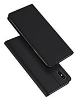 Недорогие -Кейс для Назначение Apple iPhone XS Max Бумажник для карт / со стендом / Флип Чехол Однотонный Кожа PU / ТПУ