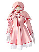 cheap -Inspired by Cardcaptor Sakura Sakura Kinomodo Anime Cosplay Costumes Japanese Cosplay Suits Dress Shawl Shoe Cover For Women's / Cap / Rope