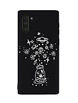 Недорогие -Кейс для Назначение SSamsung Galaxy Galaxy Note 10 / Galaxy Note 10 Plus Защита от удара Кейс на заднюю панель Мультипликация ТПУ
