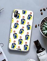 Недорогие -чехол для apple iphone 6 / 6s / iphone x пыленепроницаемый / ультратонкий / задняя крышка с рисунком мультяшный мягкий тпу / непромокаемый / индивидуальное творчество мода река долина город серия