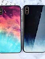 Недорогие -Кейс для Назначение Apple iPhone XS / iPhone XR / iPhone XS Max Зеркальная поверхность / Ультратонкий / С узором Кейс на заднюю панель Цвет неба / Пейзаж ТПУ