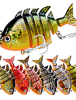 Недорогие -8 pcs Рыболовная приманка Жесткая наживка Жесткие пластиковые Тонущие Троллинг и рыболовное судно
