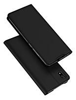 Недорогие -Кейс для Назначение Xiaomi Редми 7А Бумажник для карт / со стендом / Флип Чехол Однотонный Кожа PU / ТПУ