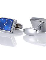 Недорогие -Запонки Классика Мода Брошь Бижутерия Серебряный Назначение Свадьба
