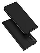Недорогие -Кейс для Назначение Xiaomi Xiaomi CC9e Бумажник для карт / со стендом / Флип Чехол Однотонный Кожа PU / ТПУ