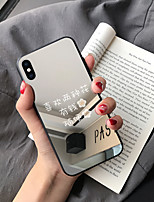 Недорогие -Кейс для Назначение SSamsung Galaxy S9 / S9 Plus / S8 Plus Зеркальная поверхность / Ультратонкий / С узором Кейс на заднюю панель Слова / выражения ТПУ