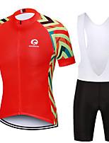 Недорогие -MAKOSHARK Жен. С короткими рукавами Велокофты и велошорты-комбинезоны Красный / Белый Красный + черный В полоску Велоспорт Наборы одежды / Продвинутый уровень / Слабоэластичная / Шоссейные велосипеды