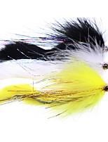 Недорогие -2 pcs Мухи Мягкие приманки Мухи Металл Тонущие Морское рыболовство Ловля нахлыстом Ужение на спиннинг