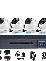 Недорогие -комплект оборудования для мониторинга 4ch AHD коаксиальный аналоговый внутренний полушарие 1080p система мониторинга удаленного монитора
