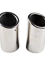 Недорогие -2 шт. / Компл. Из нержавеющей стали выхлопные трубы труба глушитель хвост для VW Golf Estate Volkswagen