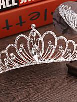 Недорогие -Жен. Симпатичные Стиль Серебрянное покрытие Сплав Кристалл Гребни Украшения для волос Подвески для волос Свадьба